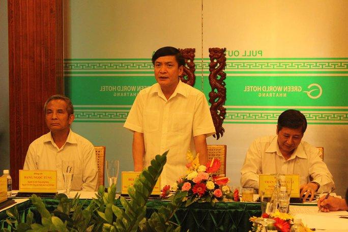 Ông Bùi Văn Cường phát biểu tại buổi làm việc