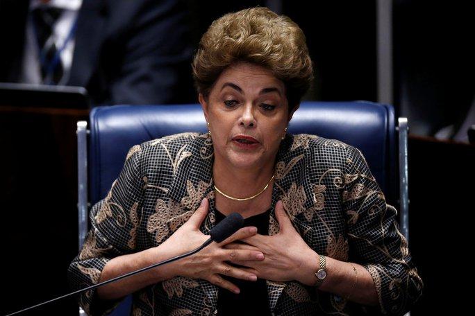 Bà Rousseff một mực bác bỏ mọi cáo buộc vi phạm kỷ luật tài chính. Ảnh: Reuters