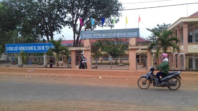 Trường THCS Quang Trung, nơi xảy ra vụ việc
