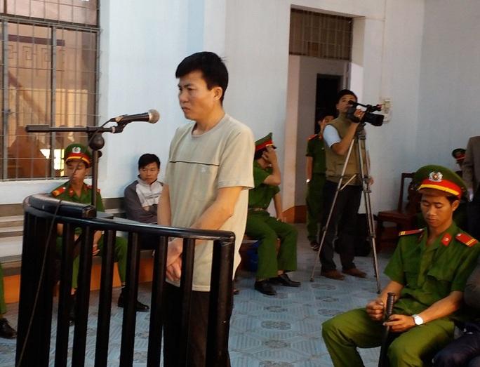Bị cáo Trịnh Văn Tám tại phiên tòa sơ thẩm