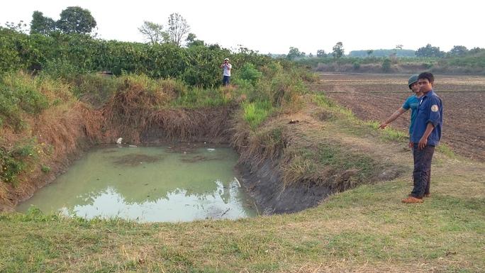Hồ nước nơi các em nhỏ gặp nạn