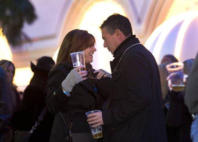 Người dân đón năm mới tại TP Las Vegas. Ảnh: Las Vegas Sun