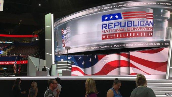 Đảng Cộng hòa Mỹ khai mạc đại hội đảng toàn quốc tại TP Cleveland, bang Ohio bắt đầu từ ngày 18-7. Ảnh: VOA