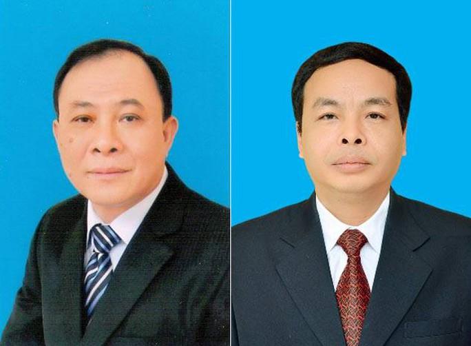 Bí thư Tỉnh ủy Yên Bái Phạm Duy Cường (trái) và Chủ tịch HĐND tỉnh Yên Bái Ngô Ngọc Tuấn