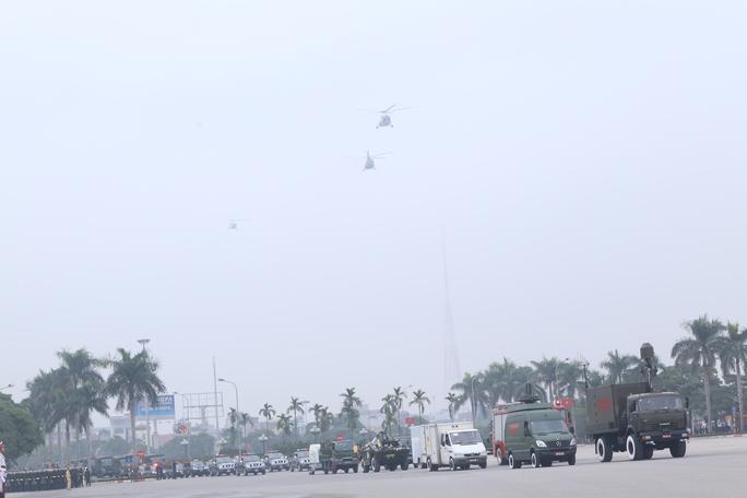 Buổi sơ duyệt có khoảng 5.200 cán bộ, chiến sĩ lực lượng vũ trang,125 ôtô, môtô đặc chủng và trực thăng, khoảng 100 ôtô chở quân của nhiều đơn vị vũ trang khác nhau trong ngành Công an cùng sự phối hợp của Bộ Tư lệnh Thủ đô.