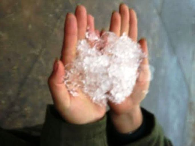 Mưa tuyết, băng giá dày đặc ở Cao Sơn - Ảnh: Thanh Tùng