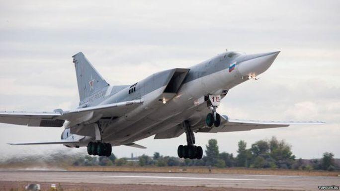 Máy bay ném bom Tu-22M3 của Nga tham gia vụ tấn công mô phỏng vào Stockholm năm 2013. Ảnh: Tupolev.ru