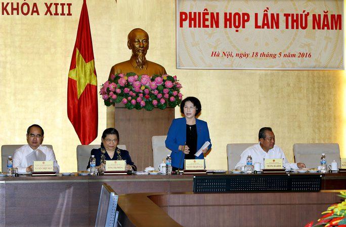 Phiên họp thứ 5 của Hội đồng Bầu cử quốc gia chỉ đạo việc tiếp tục triển khai công tác chuẩn bị bầu cử Ảnh: TTXVN