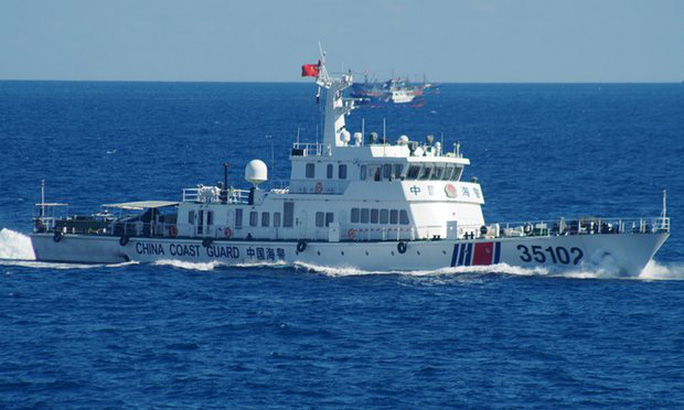 Tàu hải cảnh Trung Quốc xuất hiện gần quần đảo Senkaku/ Điếu Ngư. Ảnh: AP