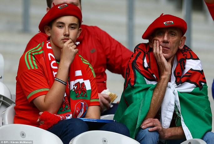 Nỗi lo lắng của CĐV XỨ Wales khi bị Bỉ dẫn trước từ phút 13