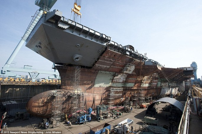 Hình ảnh CVN-78 được chụp vào tháng 4-2013. Ảnh: Newport News Shipbuilding