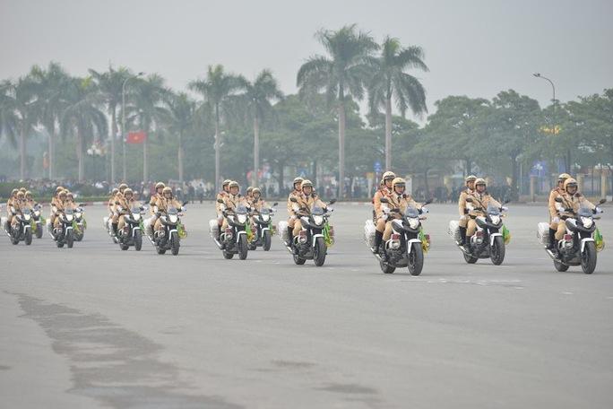 Lực lượng CSGT đảm bảo giao thông trong kỳ Đại hội