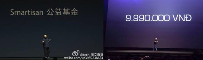 Sự kiện ra mắt chiếc Smartisan T1 và sự kiện ra mắt Bphone bị cho là ảnh hưởng từ Apple, từ phong cách bố trí sân khấu cho đến phong cách thuyết trình của hai CEO.