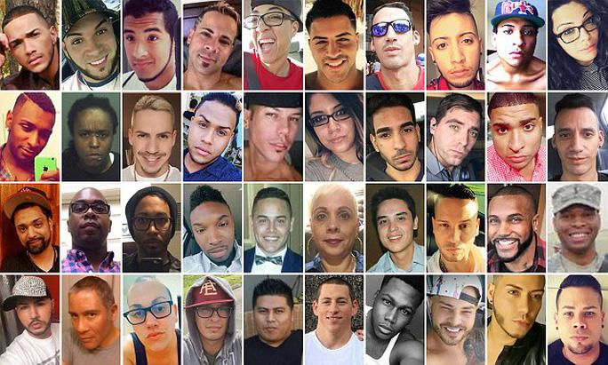 49 nạn nhân trong vụ xả súng trong hộp đêm ở TP Orlando. Ảnh: DAILY MAIL