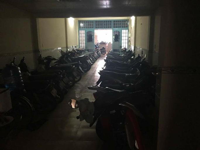 Số lượng xe máy được thu giữ tại nhà riêng của Quyết