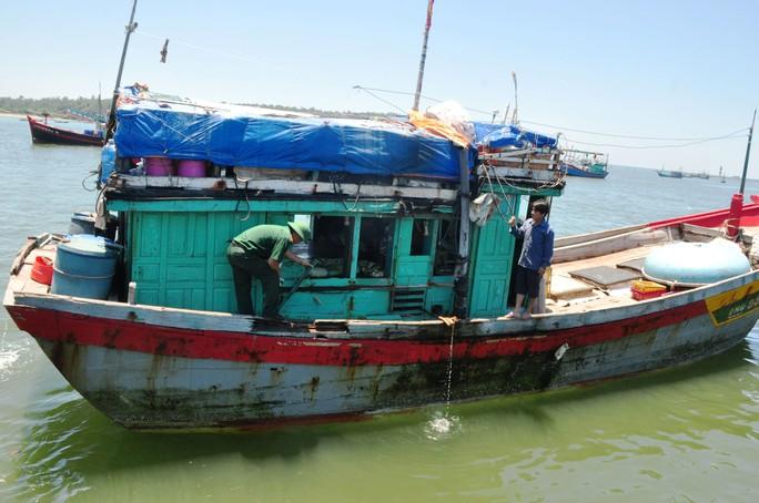 Một tàu cá của ngư dân Quảng Ngãi bị tàu Trung Quốc tông hỏng trong tháng 6-2016 Ảnh: TỬ TRỰC
