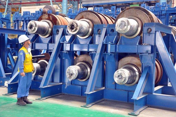 Dây chuyền sản xuất thép tại Nhà máy Posco SS-Vina, huyện Tân Thành, tỉnh Bà Rịa - Vũng Tàu - Ảnh: ĐÔNG HÀ