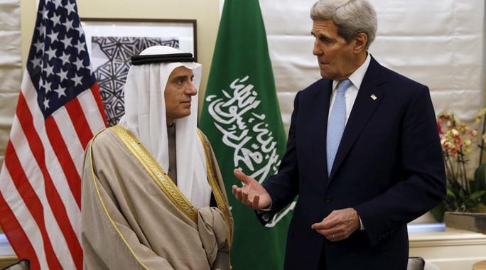 Ngoại trưởng Mỹ John Kerry gặp gỡ Bộ trưởng Ngoại giao Ả Rập Saudi Abdel al-Jubeir tại Washington. Ảnh: Reuters