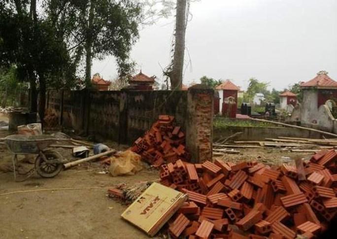 Nghĩa trang xã Vĩnh Thành nơi kẻ gian đào mộ mới chôn, trộm một phần thi thể người chết