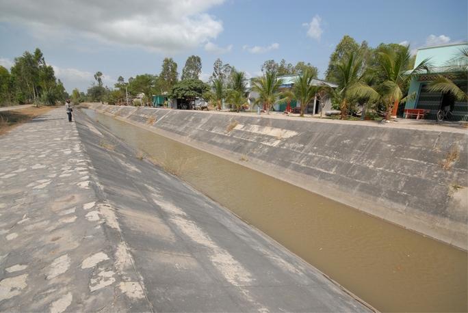 Nguồn nước ở ĐBSCL đang cạn kiệt dần Ảnh: Ngọc Trinh