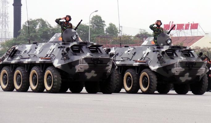Dàn xe của Đơn vị tác chiến điện tử Bộ tư lệnh thủ đô