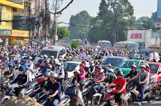 Dự án xe buýt nhanh được kỳ vọng sẽ giải quyết nạn kẹt xe của TP Ảnh: Gia Minh