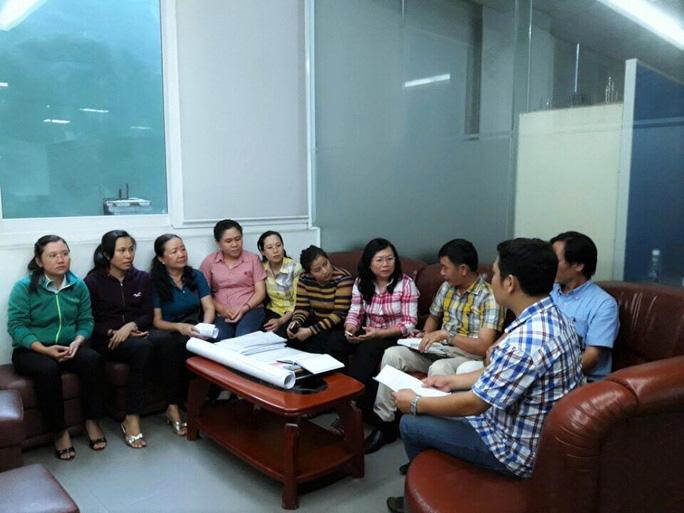 Người lao động Vinatexmart trình bày bức xúc về việc không được nhận tiền từ quỹ khen thưởng, phúc lợi