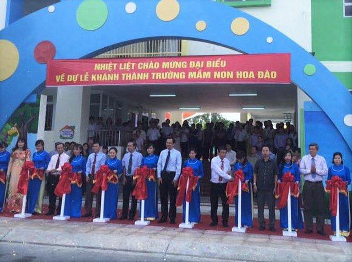 Trường Mầm non Hoa Đào (phường Linh Trung, quận Thủ Đức, TP HCM) chiêu sinh con công nhân