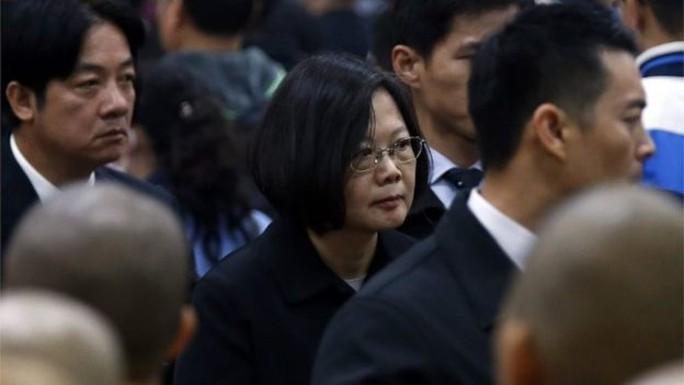 Bà Thái Anh Văn tại buổi tưởng niệm. Ảnh: EPA