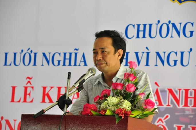 Ông Đỗ Danh Phương, Tổng Biên tập Báo Người Lao Động phát biểu tại buổi lễ