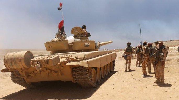 Quân Iraq trong chiến dịch tái chiếm TP Mosul hồi tháng 3. Ảnh: REUTERS