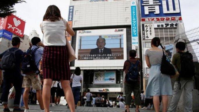 Nhật hoàng Akihito đã có phát biểu hiếm hoi trong một đoạn video được công bố trong ngày 8-8. Ảnh: REUTERS