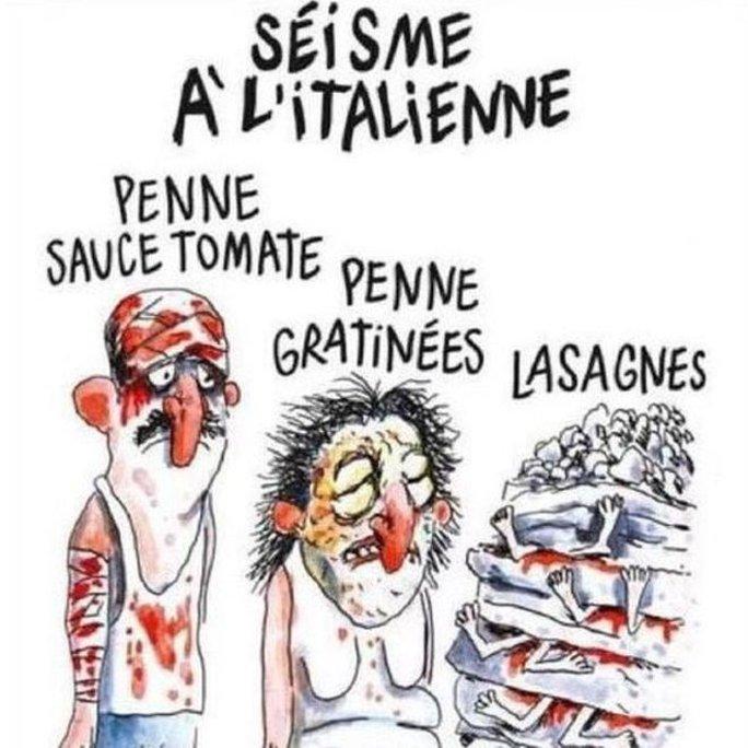 Bức biếm họa phản cảm của tờ Charlie Hebdo. Ảnh: Charlie Hebdo