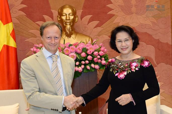 Chủ tịch QH tiếp Đại sứ - Trưởng Phái đoàn EU tại Việt Nam Bruno Angelet