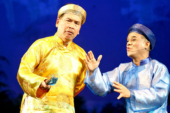 NS Hữu Nghĩa và Hữu Bình trong vở kịch ngắn dân gian chúc mừng các thầy cô