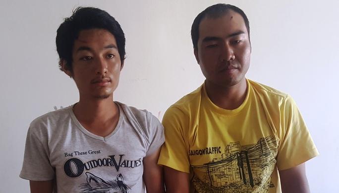 Hai đối tượng người Trung Quốc tại cơ quan công an