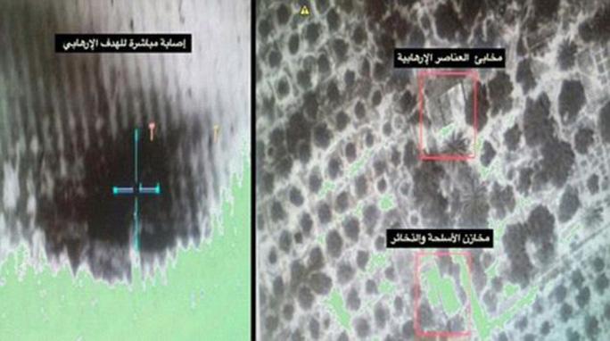 Một người phát ngôn Ai Cập đăng tải hình ảnh các cuộc không kích ở Arish trên tài khoản Facebook.