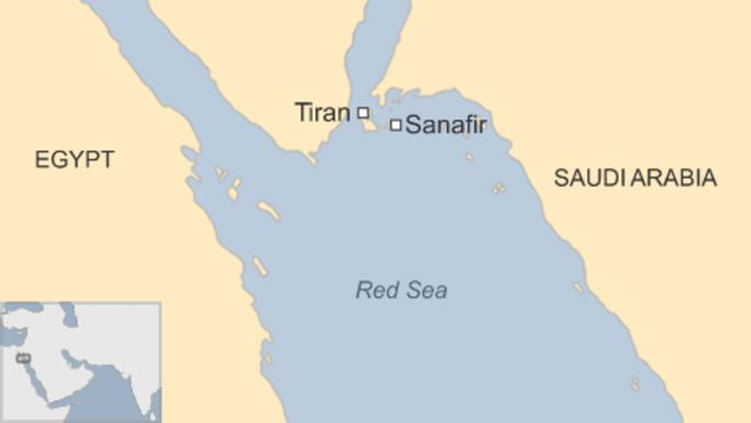 Đảo Tiran và Sanafir trên biển Đỏ. Nguồn: BBC