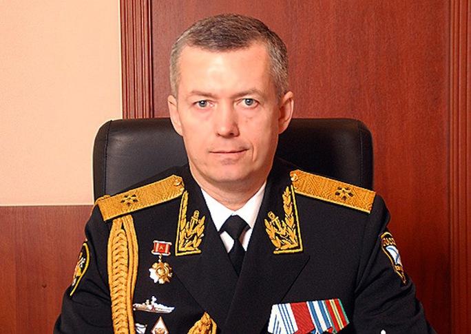 Chuẩn đô đốc Alexander Nosatov, chỉ huy mới của Hạm đội Baltic. Ảnh: Bộ Quốc phòng Nga