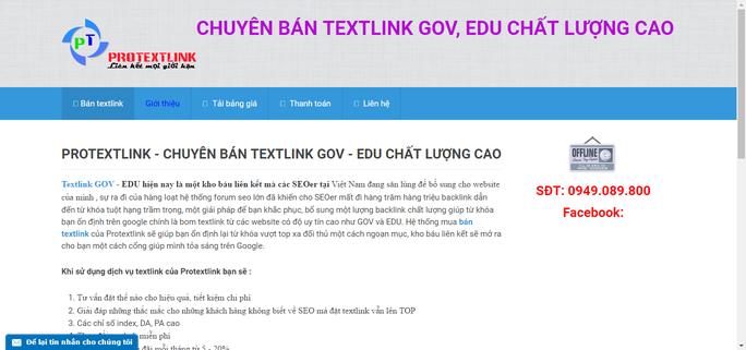 Rất nhiều trang mạng rao bán chèn link ẩn tại các website .gov, .edu