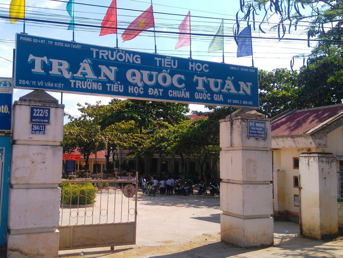 Trường tiểu học Trần Quốc Tuấn nơi xảy ra vụ việc