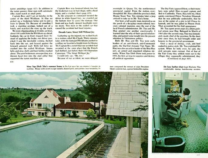 Tạp chí National Geographic giới thiệu về biệt điện Trần Lệ Xuân vào năm 1964