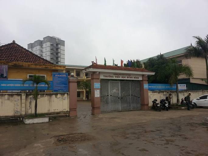 Trường tiểu học Hưng Bình, nơi thầy giáo C.V.D. công tác