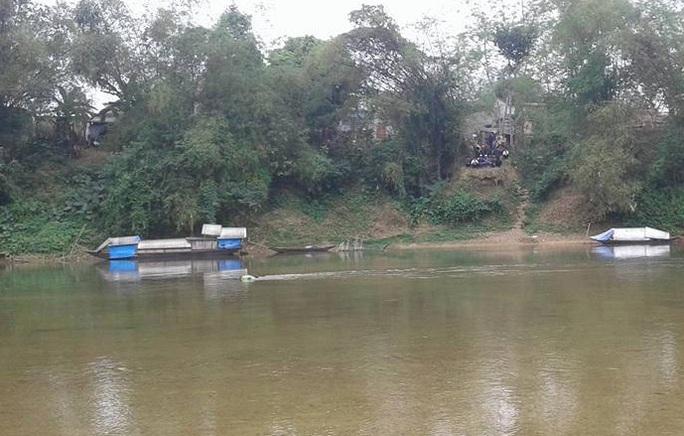 Khúc sông nơi phát hiện thi thể anh Lê Văn H.