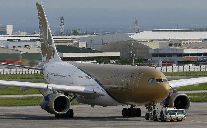 Một máy bay của hãng Gulf Air phải hạ cánh khẩn cấp ở Philippines. Ảnh: AP