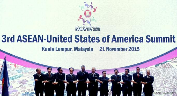 Các nhà lãnh đạo tại Hội nghị Cấp cao ASEAN-Mỹ lần thứ 3 tại Kuala Lumpur (Malaysia)