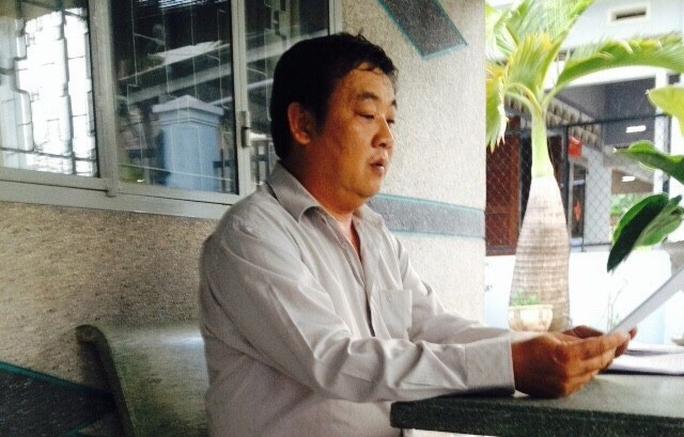 Ông Mai Thanh Tùng phản ánh sự việc với Báo Người Lao Động