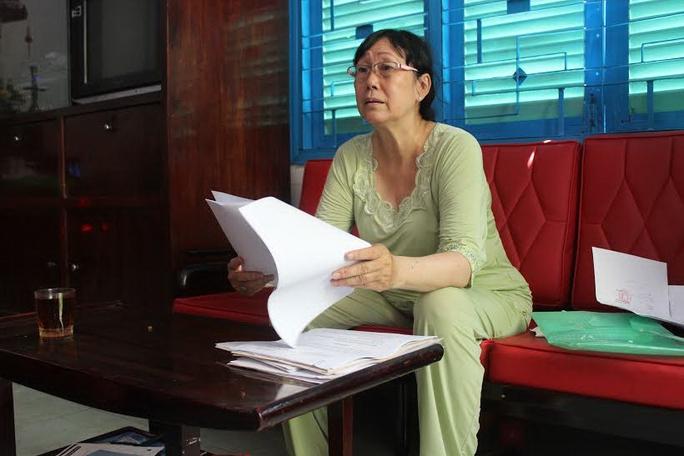 Bà Trần Thị Thu Hà trình bày về việc chậm được thi hành án