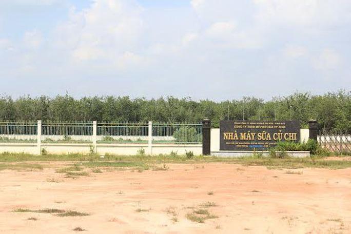 Nhà máy sữa Củ Chi (ấp Bàu Đưng, xã An Nhơn Tây, huyện Củ Chi, TP HCM) nằm trong dự án KCN Bàu Đưng  Ảnh: SỸ ĐÔNG