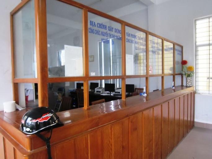 Bộ phận một cửa phường An Tây, TP Huế, tỉnh Thừa Thiên - Huế vắng bóng cán bộẢnh: Quang Nhật
